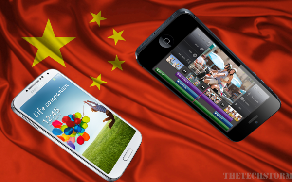 Samsung-and-Apple-in-China