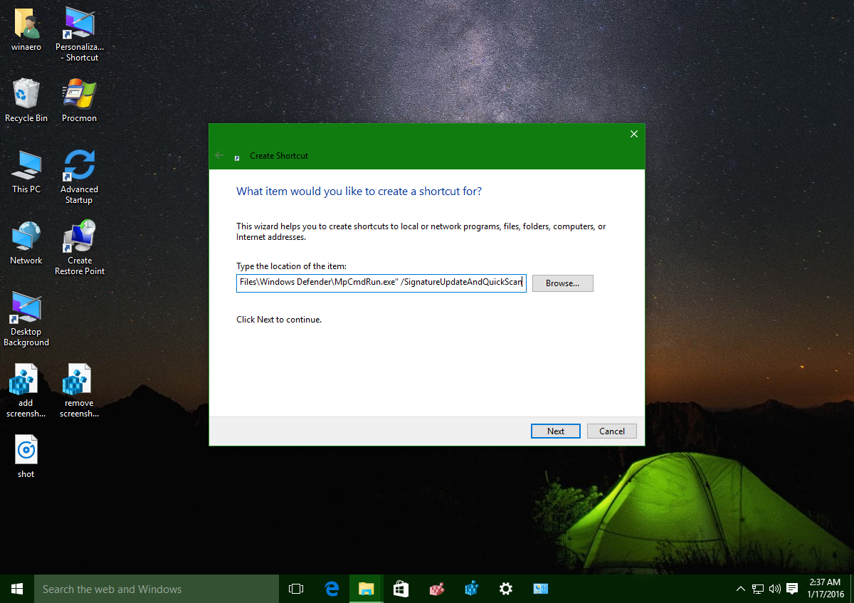 Windows-10-Defender-update-and-quick-scan