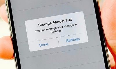 storage full on iphone