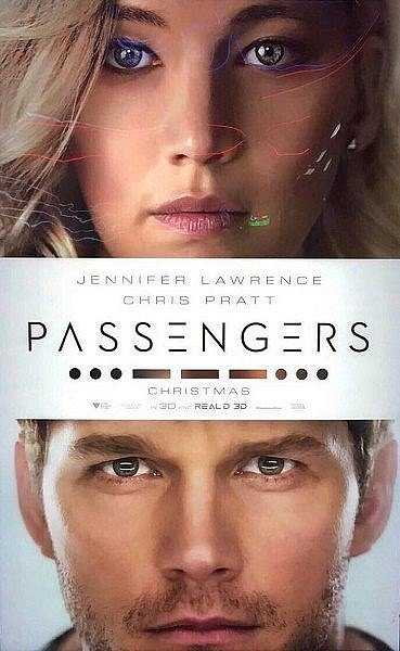 passengers poster jennifer lawrence and chris pratt