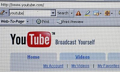 UNSPECIFIED - OCTOBER 10:  In this photo illustration the YouTube website is dispayed on October 10, 2006. Google has bought YouTube, the popular online video website where users can upload and watch videos for free, for $1.65billion dollars.  (Photo Illustration by Jeff J Mitchell/Getty Images)