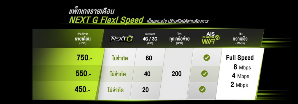 new ais next g flexi speed