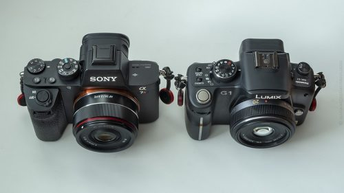 Sony Alpha 7, Panasonic Lumix G1