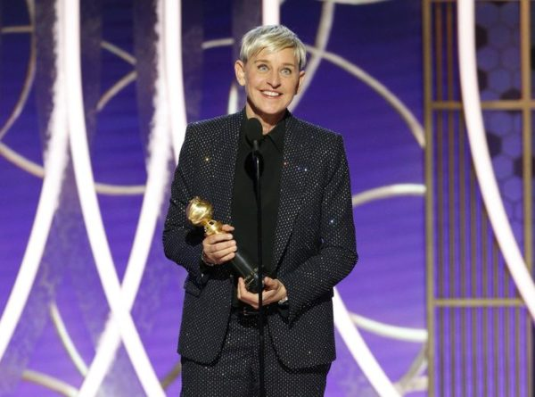 Ellen DeGeneres accepts the Carol Burnett TV Achievement