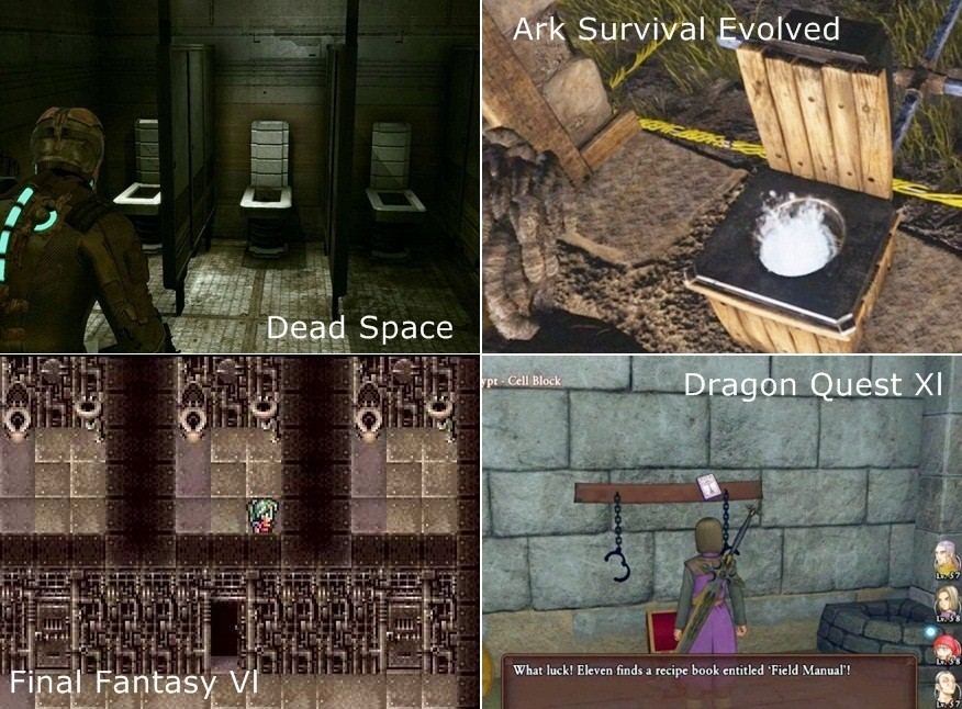 Dead Space, Ark Survival Evolved, Final Fantasy Vl, Dragon Quest Xl