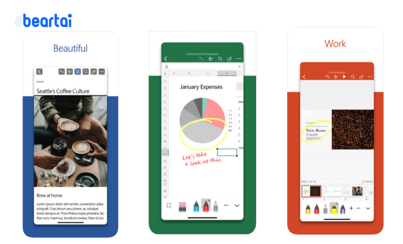 Word, Excel และ PowerPoint บน iOS