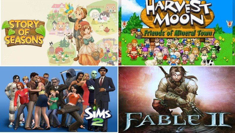 The Sims , Harvest Moon , Story of Seasons , Fable II