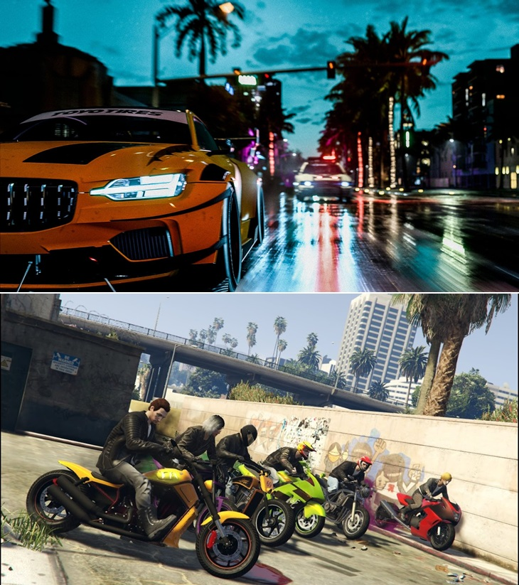 Need for Speed Grand Theft Auto V Online