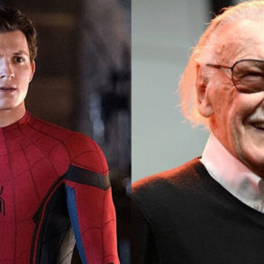 Stan Lee and Tom Holland