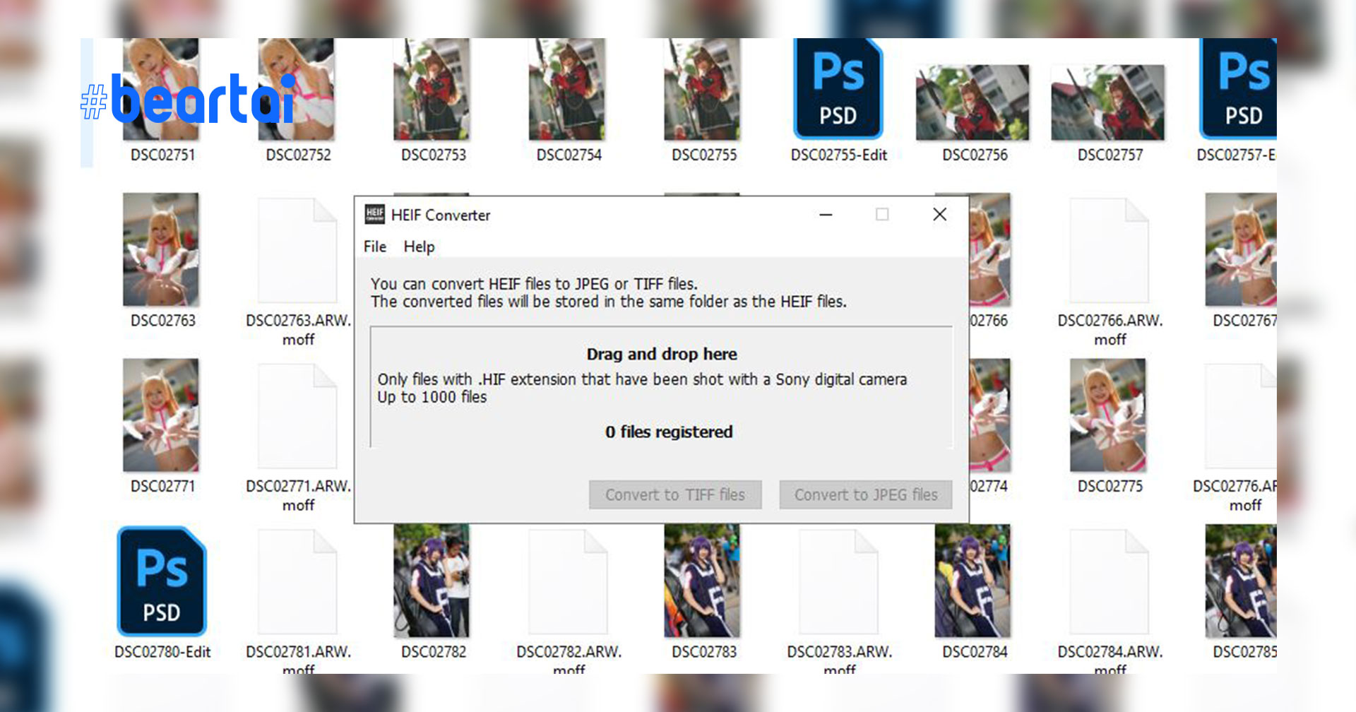 HEIF to JPEG/TIFF File Converter