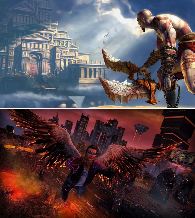 God of War   Saints Row Gat Out Of Hell