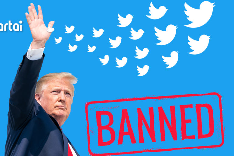 Trump was banned by Twitter permanently
