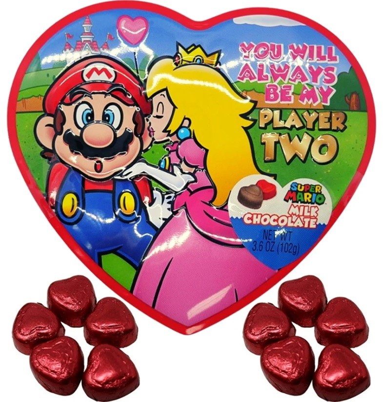 """Super Mario """"You Will Always Be My Player Two"""" Heart Tin"""