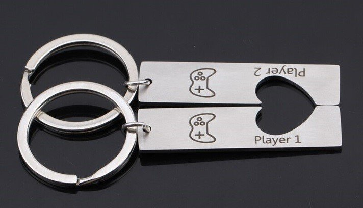 Player 1 and Player 2 Keychains