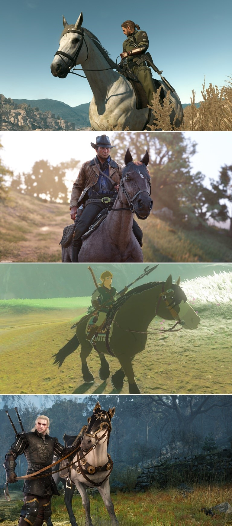 Metal Gear Solid V The Phantom Pain'The Witcher The Legend of Zelda Red Dead Redemption 2